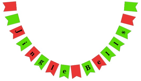 Christmas Party Bunting Jingle Bells Zazzle
