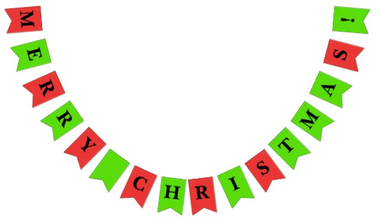 Christmas Party Bunting Merry Christmas