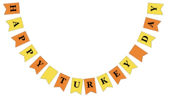 Thanksgiving Dinner Party Bunting Happy Turkey Day