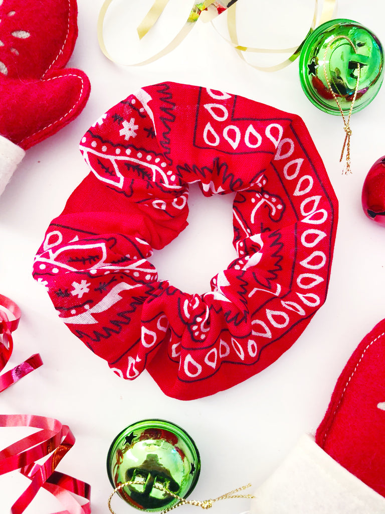 red bandana scrunchie christmas gift