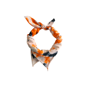 Orange and Black Tie Dye Bandana