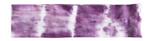 women boho purple tie dye headband on white background