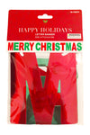 red merry christmas letter banner seasonal holiday decorations