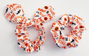 Halloween scrunchie 2 pack non violent Halloween costume for girls