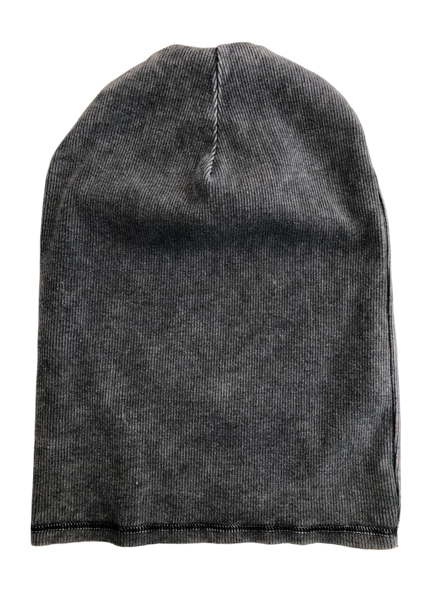 Adult Unisex Slouchy Beanie Hat Black Mineral Wash