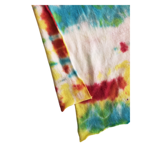 Red and Turquoise Tie Dye Bandana