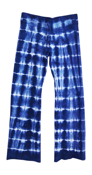 Petite womens blue tie dye sweatpants lounge pants