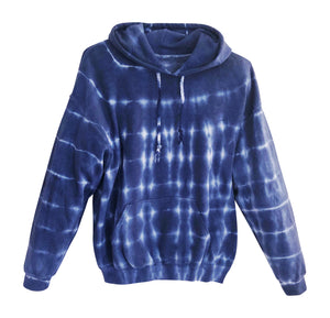 Men's Blue Tie Dye Pullover