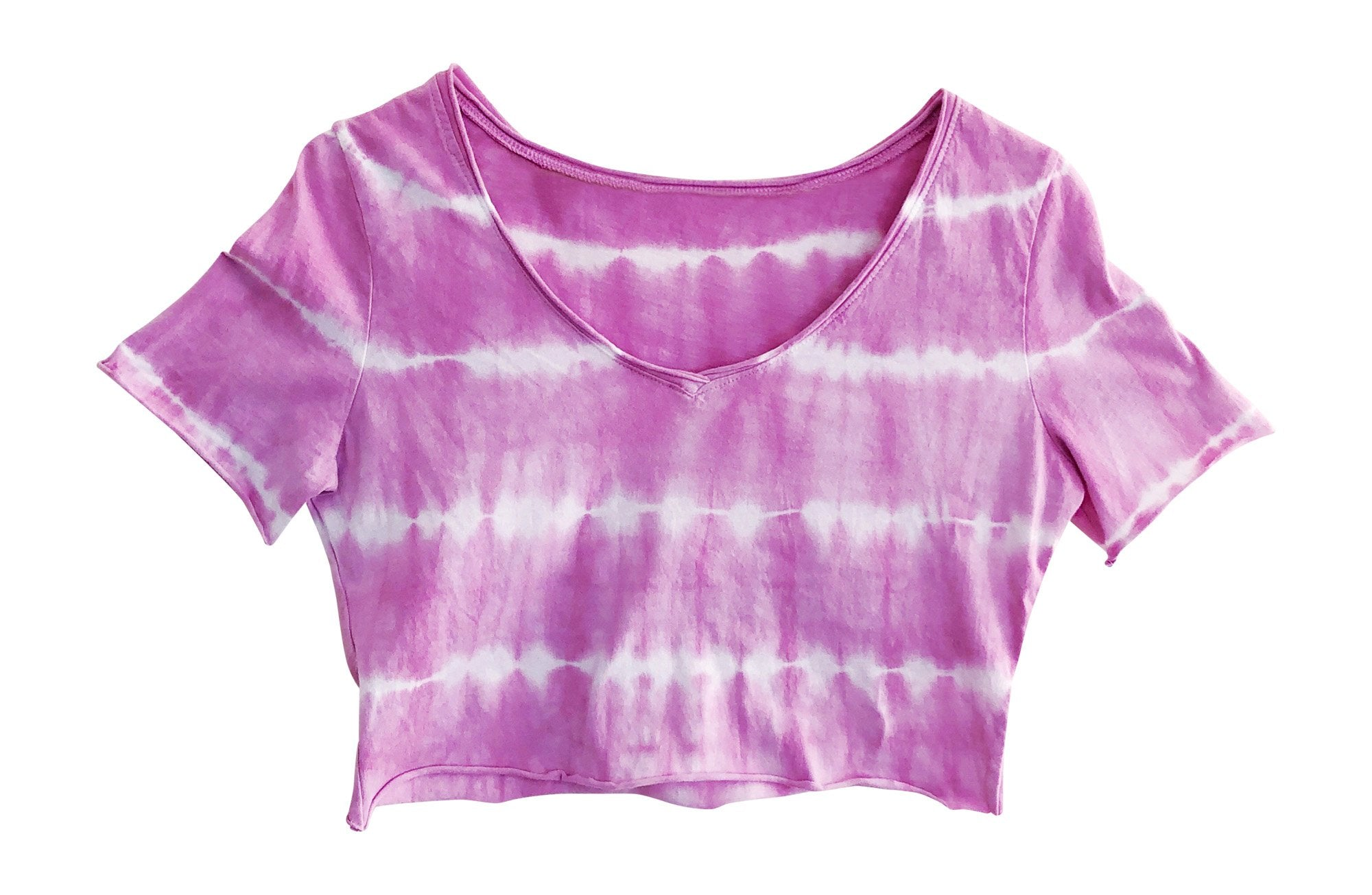 Petite Womans Purple Tie Dye Crop Top