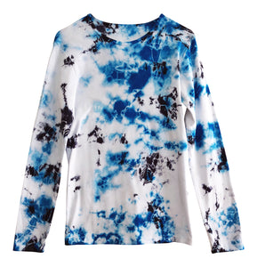 women tie dye tee long sleeved