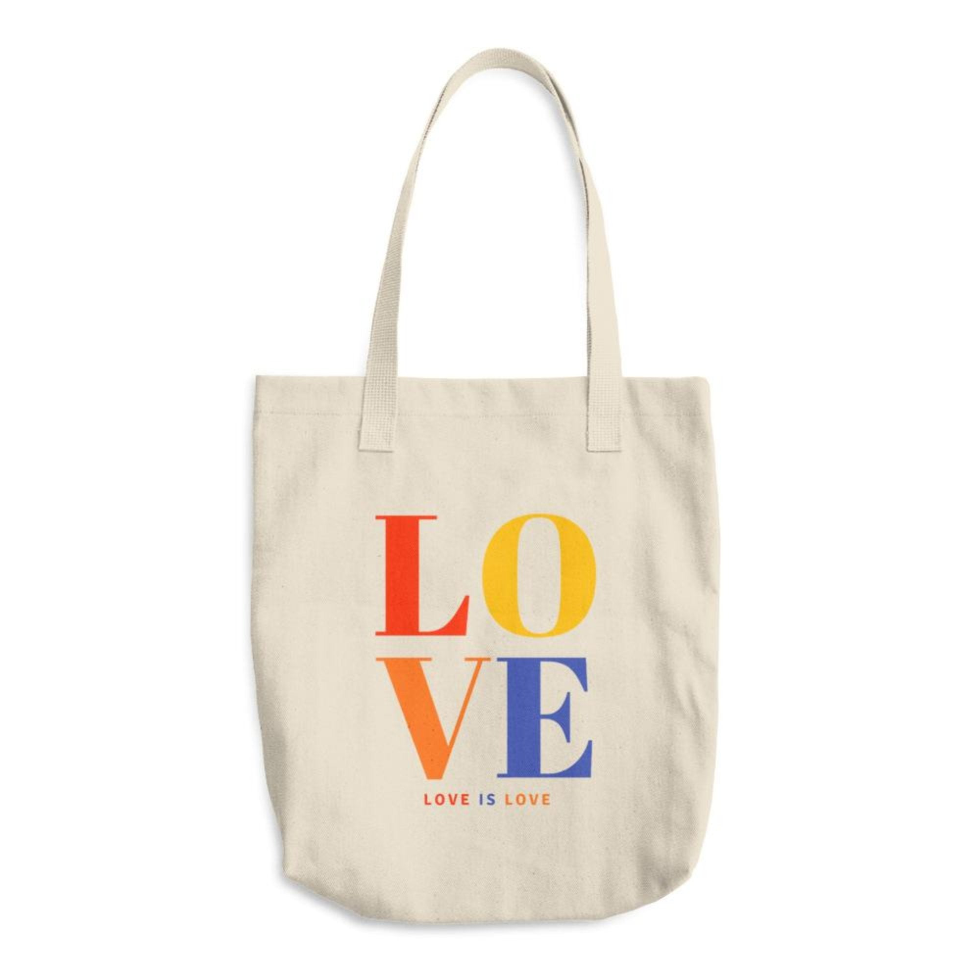 Love Reusable Grocery Tote Cotton Canvas Book Bag
