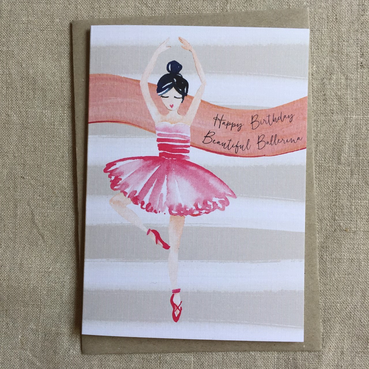 Ballerina Birthday Card