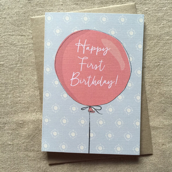 Boy's First Birthday Card