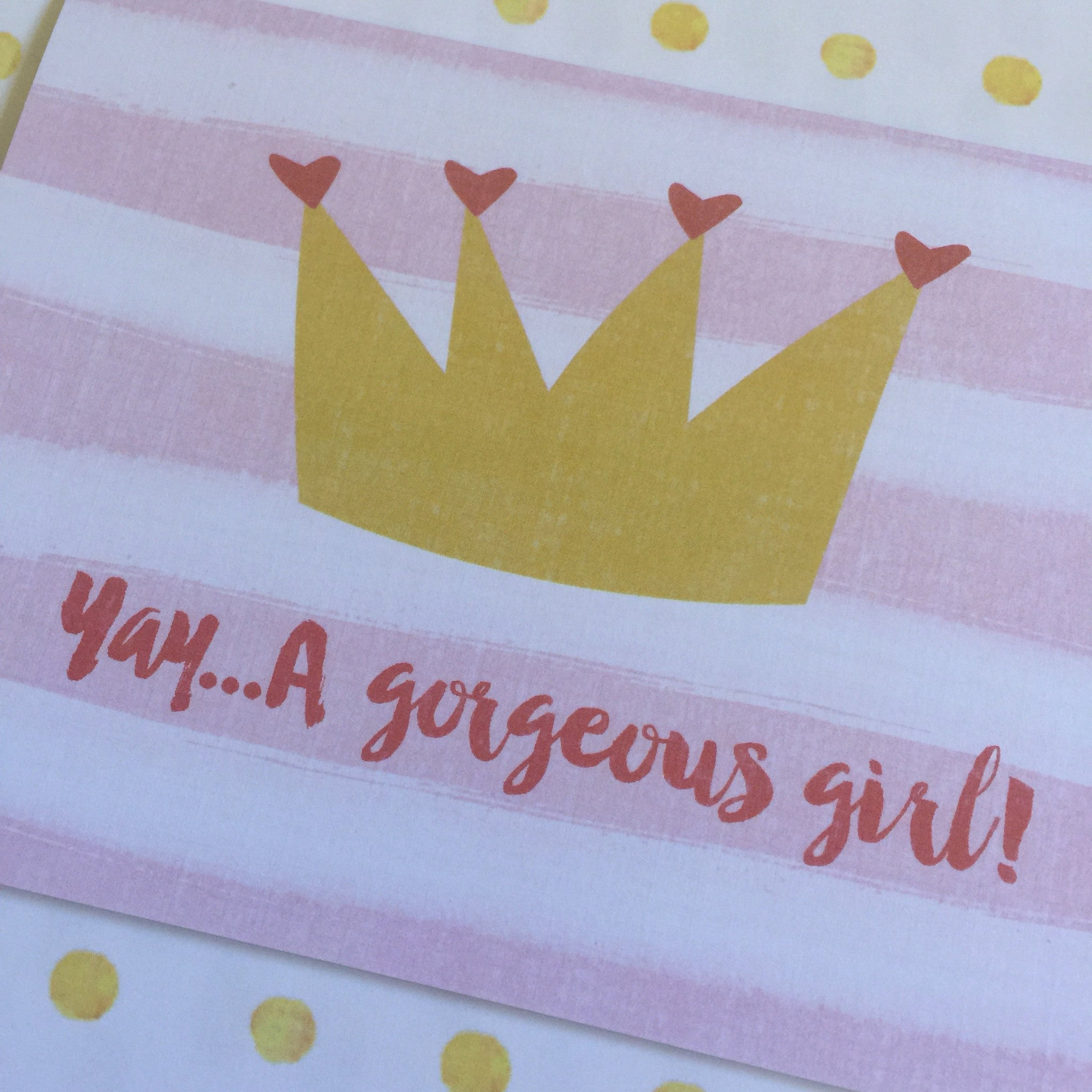 Yay.... A Gorgeous Girl Card