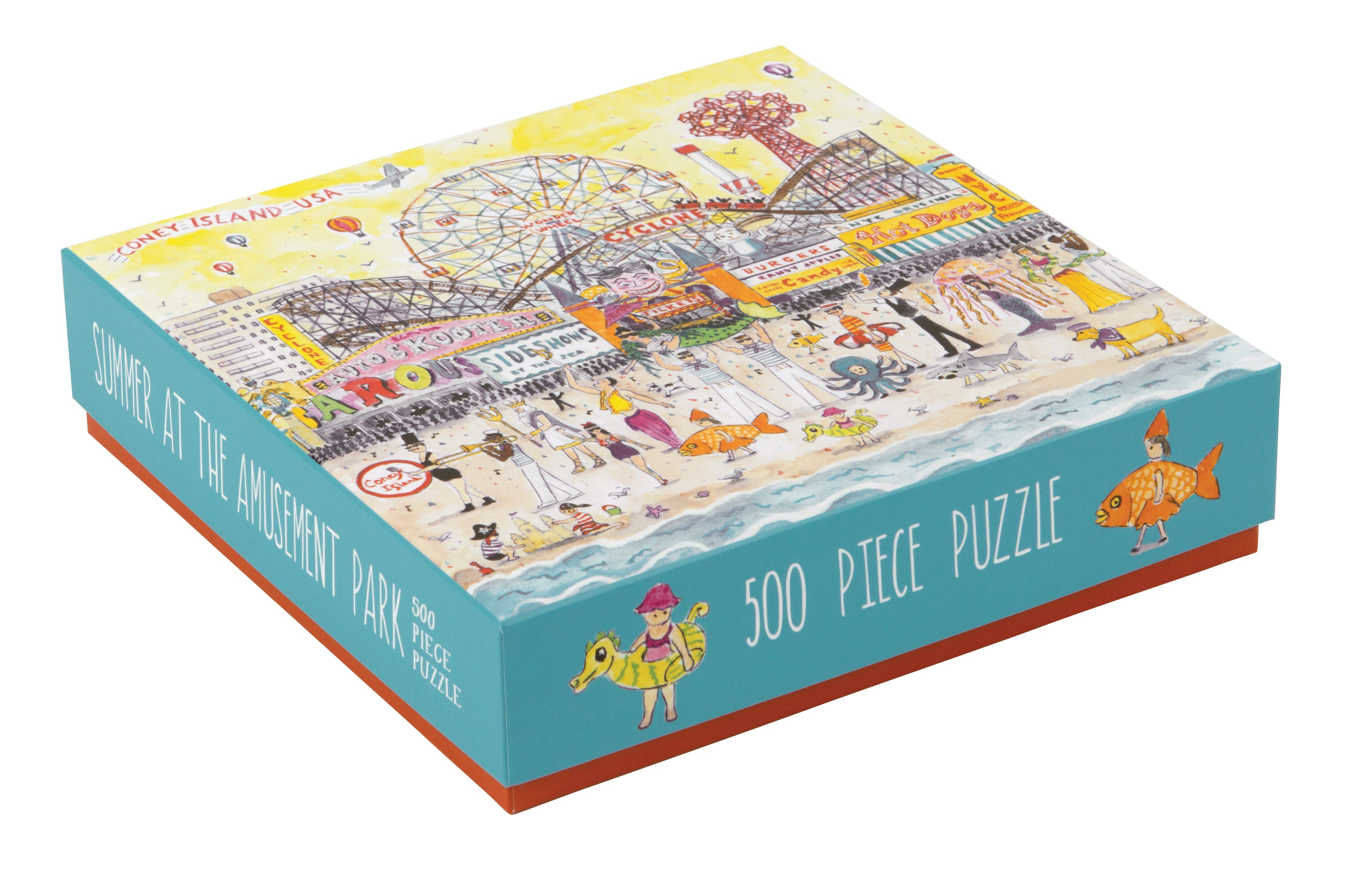 500 Piece Galison Summer at Amusement Park Puzzle