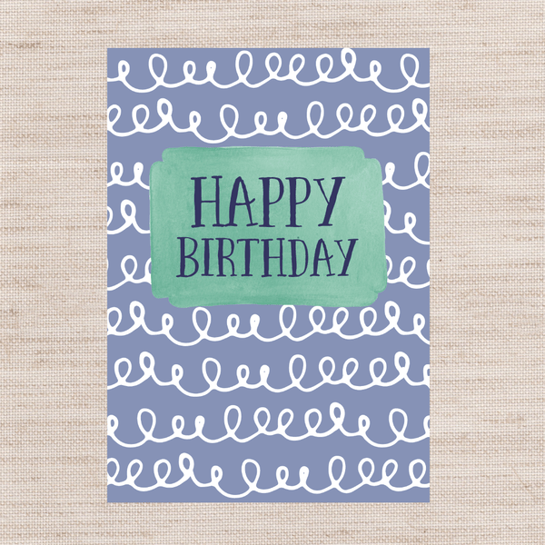 Birthday Squiggles Card