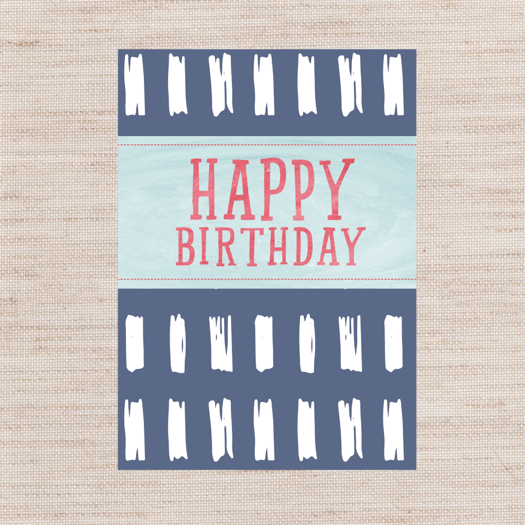 Birthday Dash Card