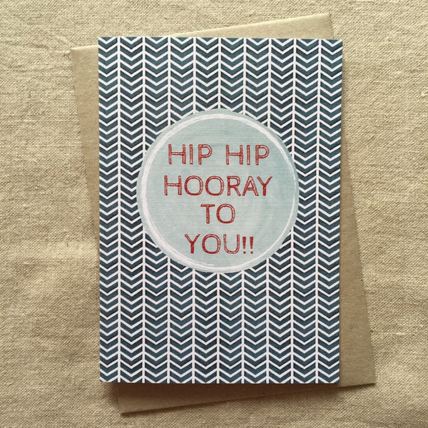 ZigZag Birthday Card