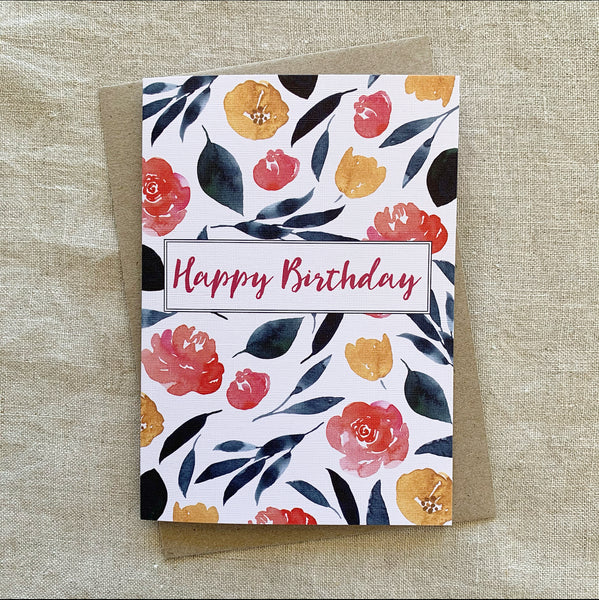 A6 Spring Birthday Card