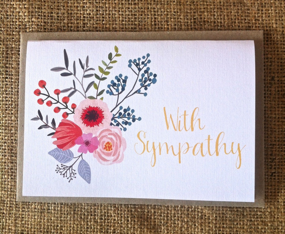 With Sympathy Bouquet Card