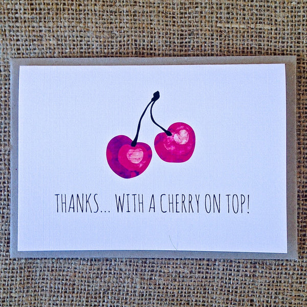 Thanks with a Cherry on Top Card