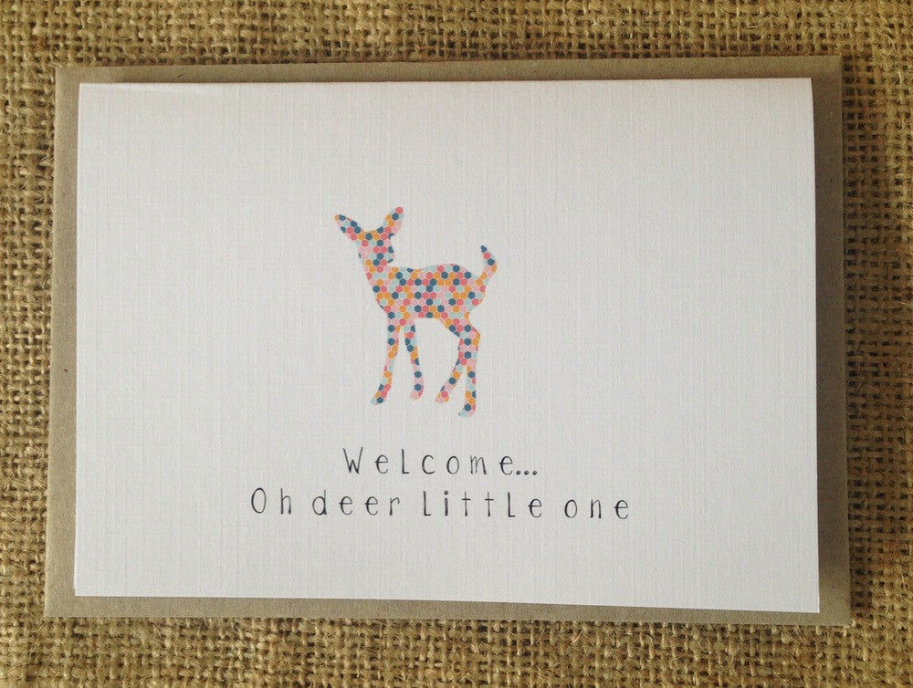 Welcome Oh Deer Little One Card