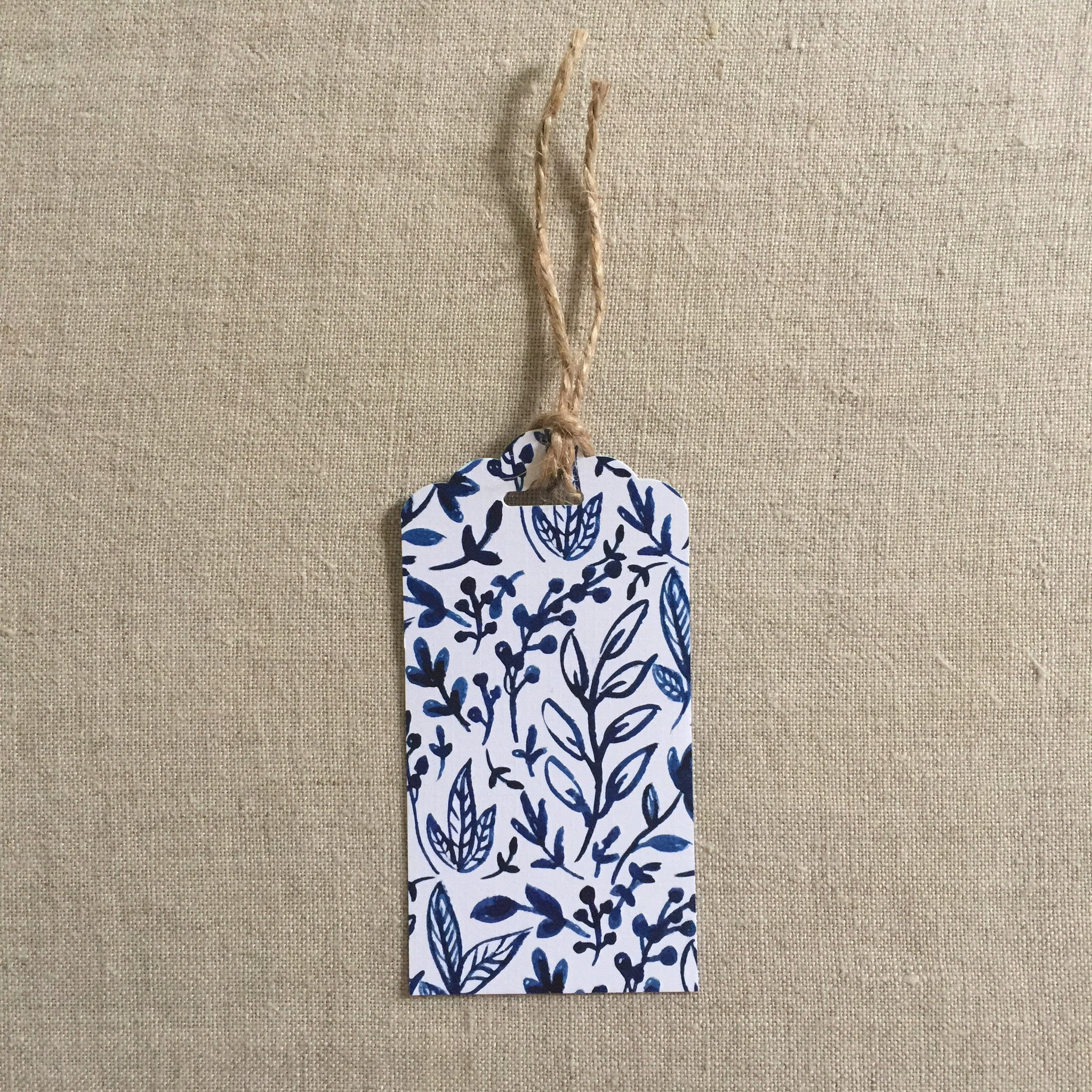 Blue Floral Gift Tag