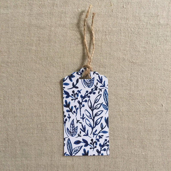 Blue Floral Gift Tag (Pre Order- available Aug 13th)