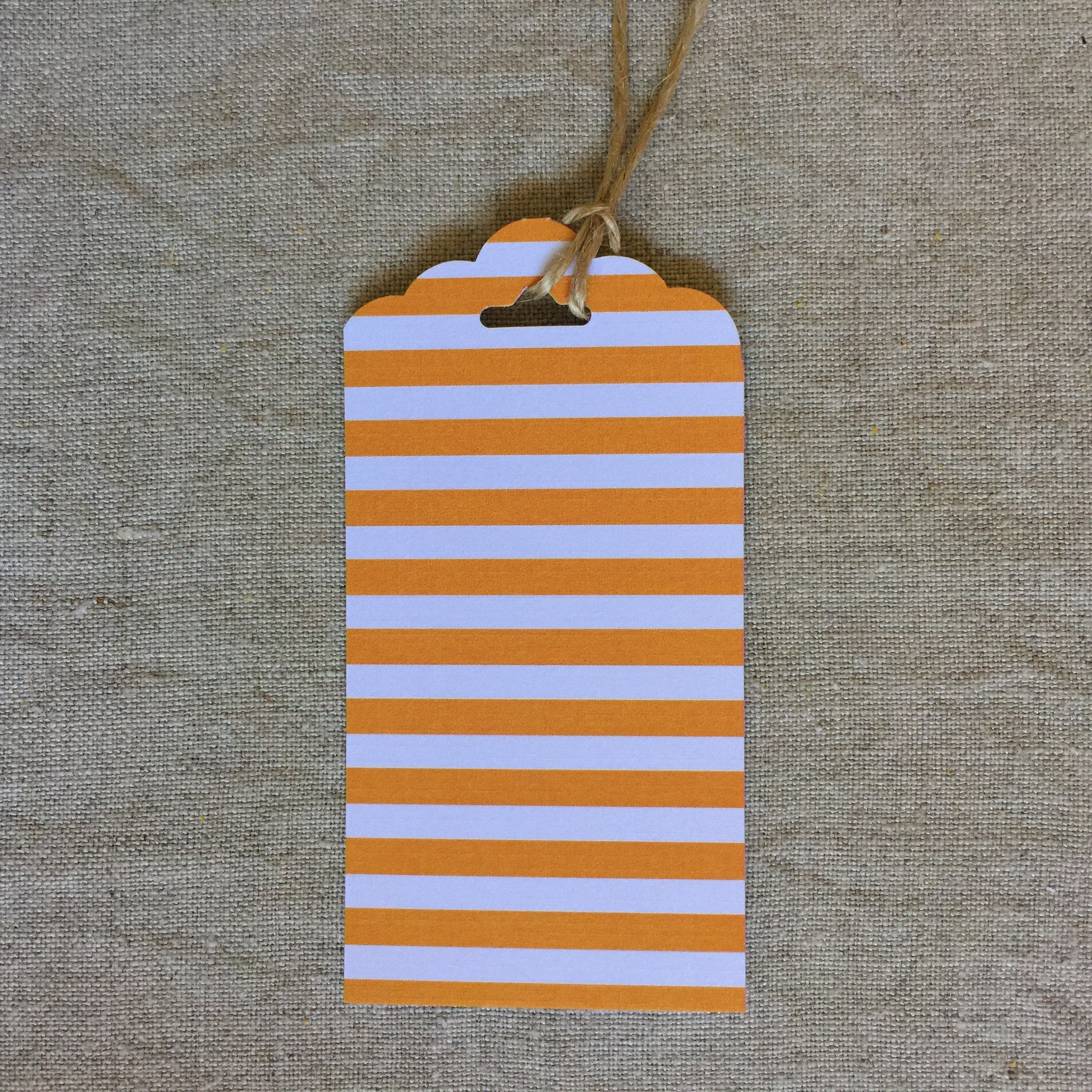 Orange Stripe Gift Tag