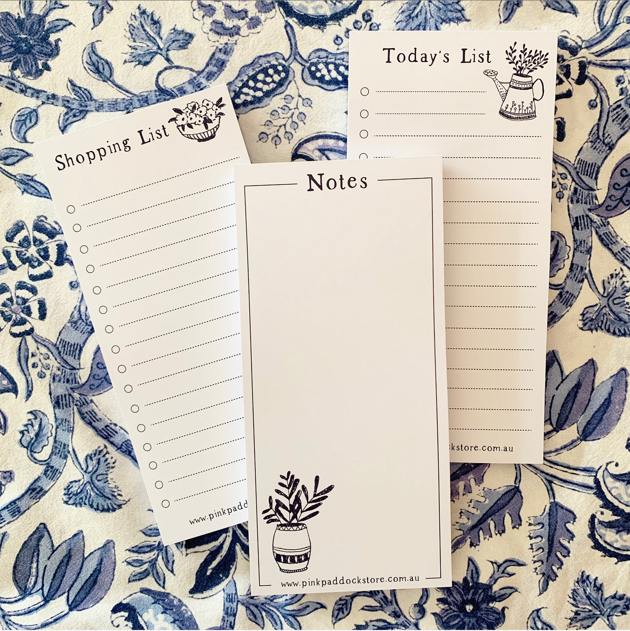 Three Pack 'Market' DL Notepad Bundle