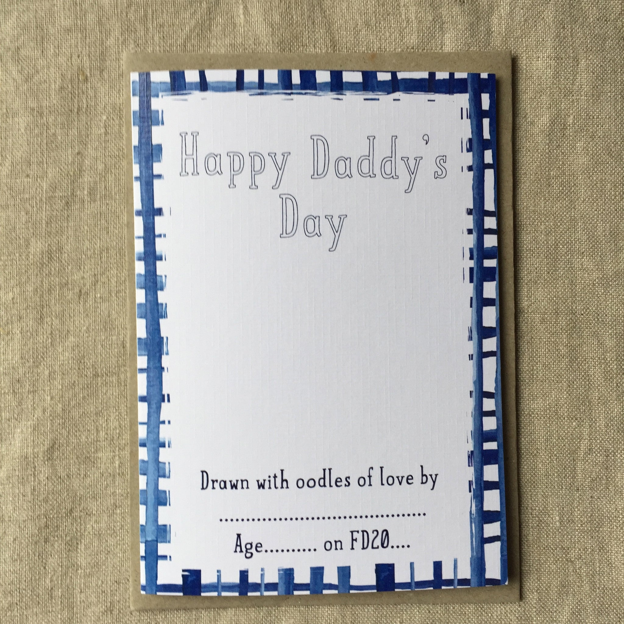 Let's Draw Happy Daddy's Day Card