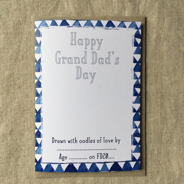 Let's Draw Happy Grand Dad's Day Card