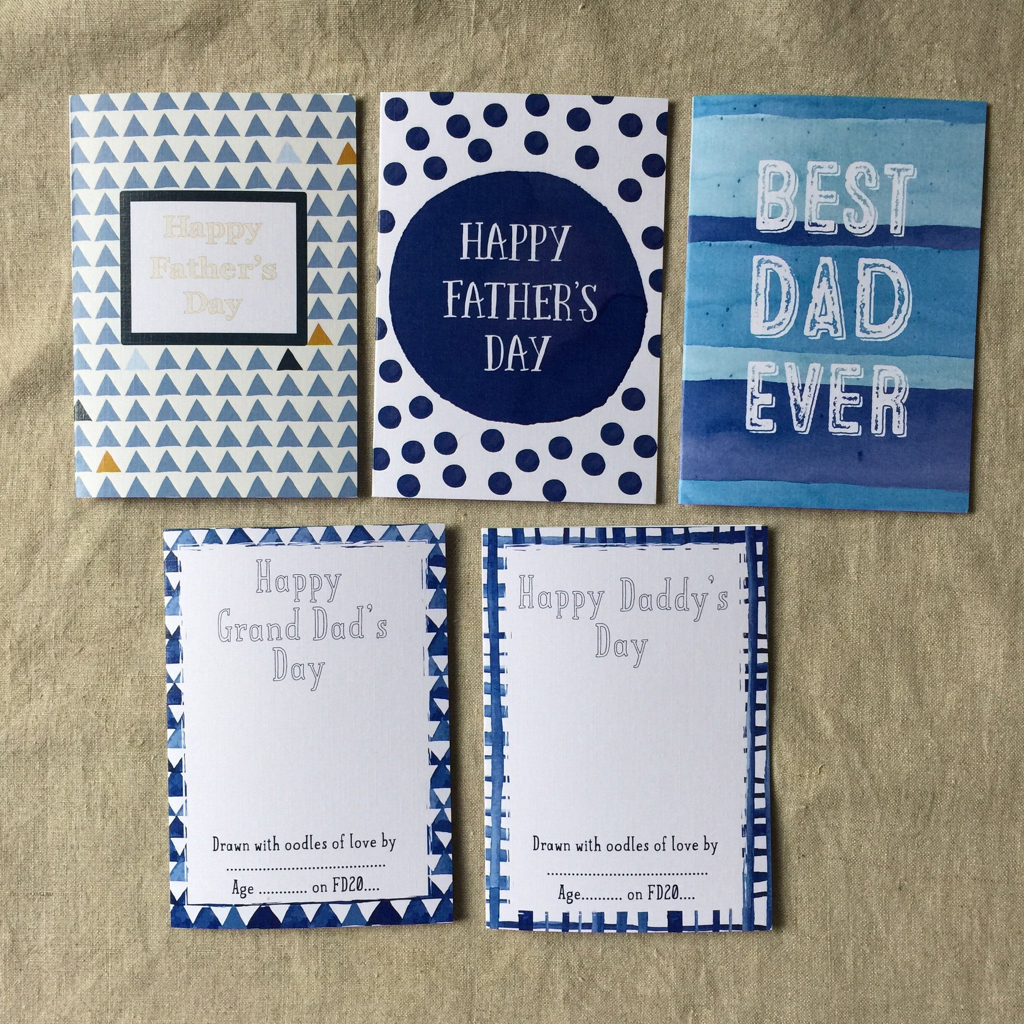 Spotty Father's Day Card