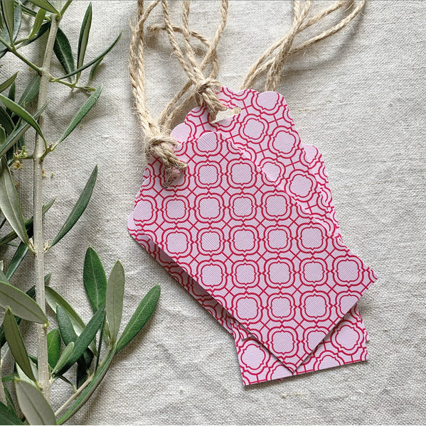 Pink Mosaic Gift Tags- Pack of Ten