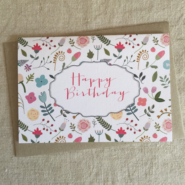 Miss Tilly's Garden Birthday Card