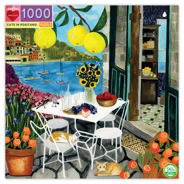 1000 Piece Cats in Positano Jigsaw Puzzle- SALE