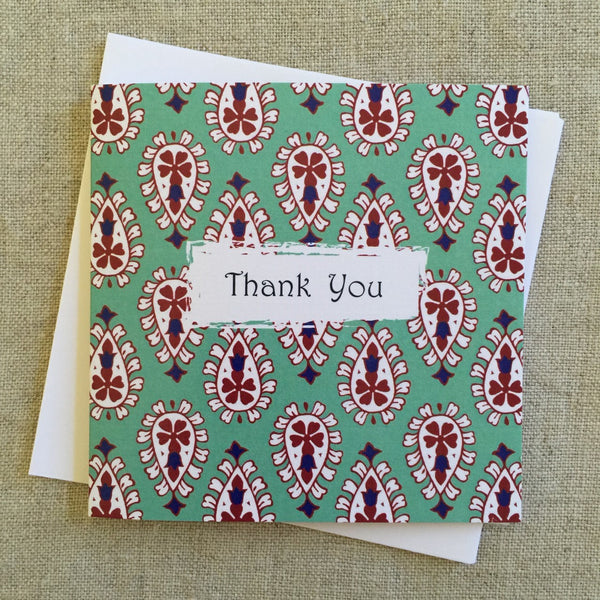 Petit Paisley Thank You  Card