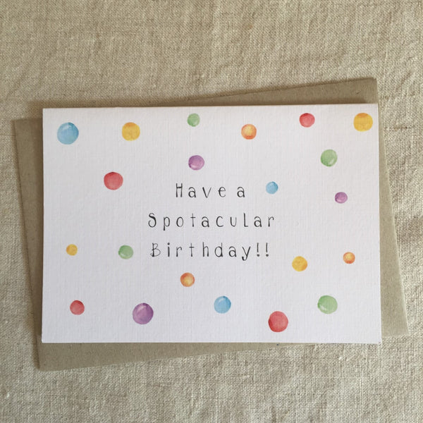 Spotacular Birthday Card