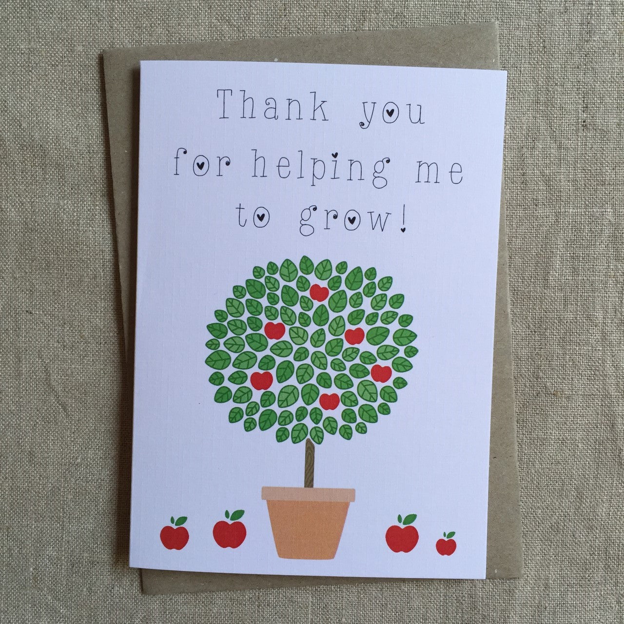 Teacher Tree Card