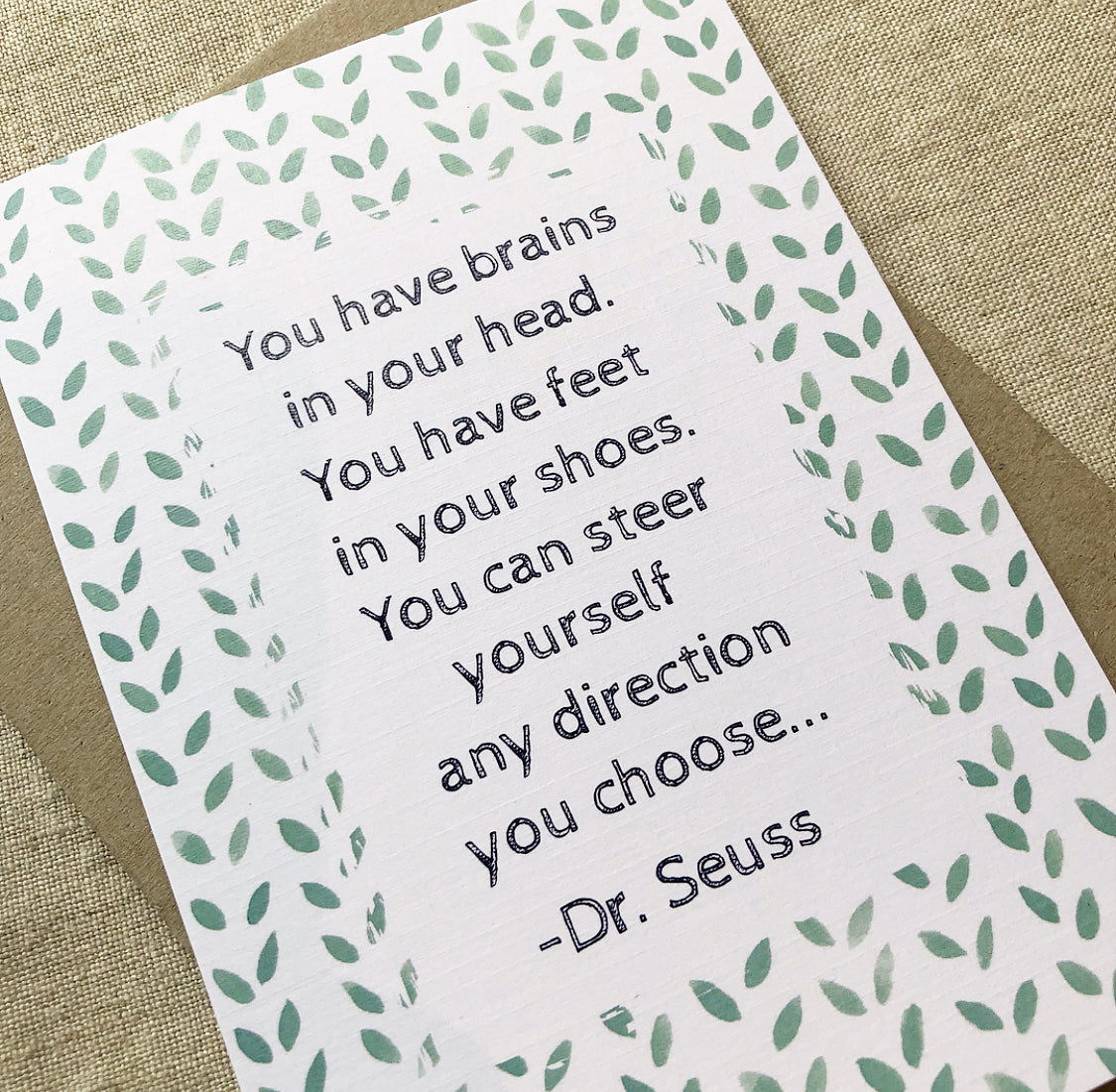Dr Seuss Quote Card
