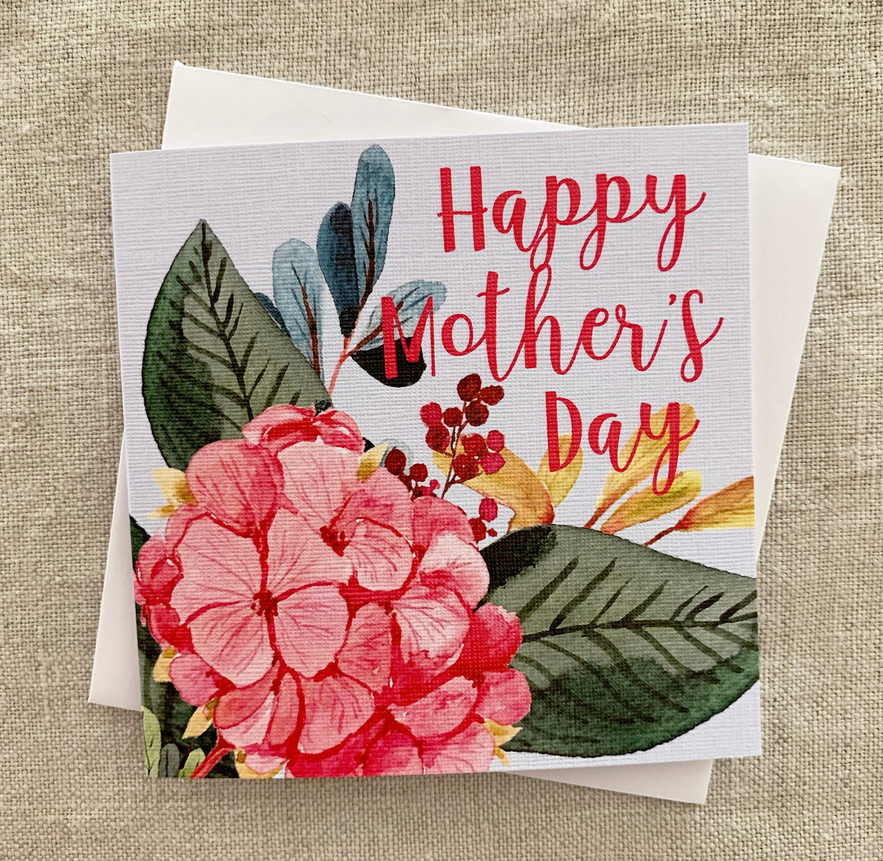 Petit Mother's Day Hydragea Card