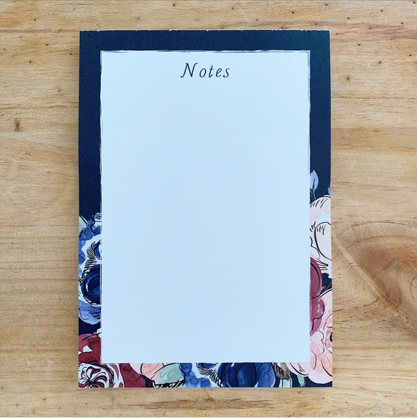 Rose 'Notes' A5 Notepad