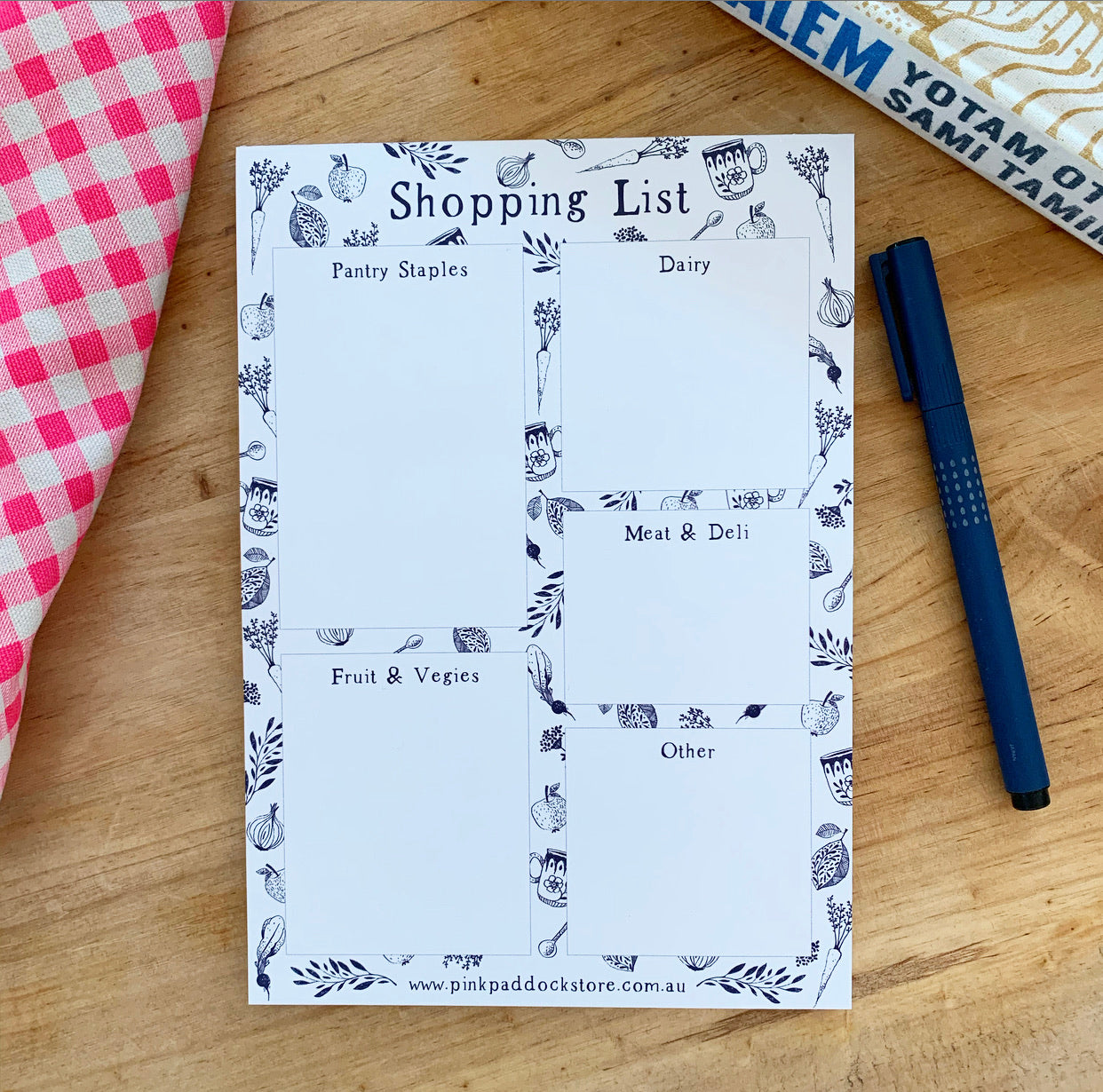 Market 'Shopping List' A5 Notepad