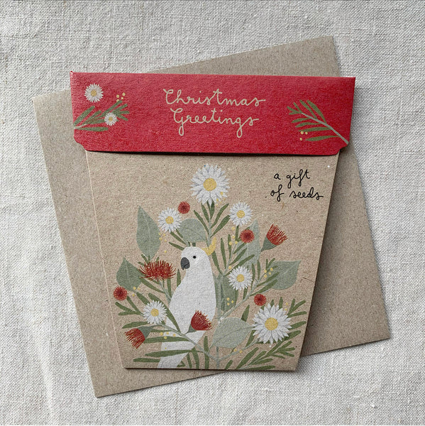 Australian Christmas Gift of Seeds Card