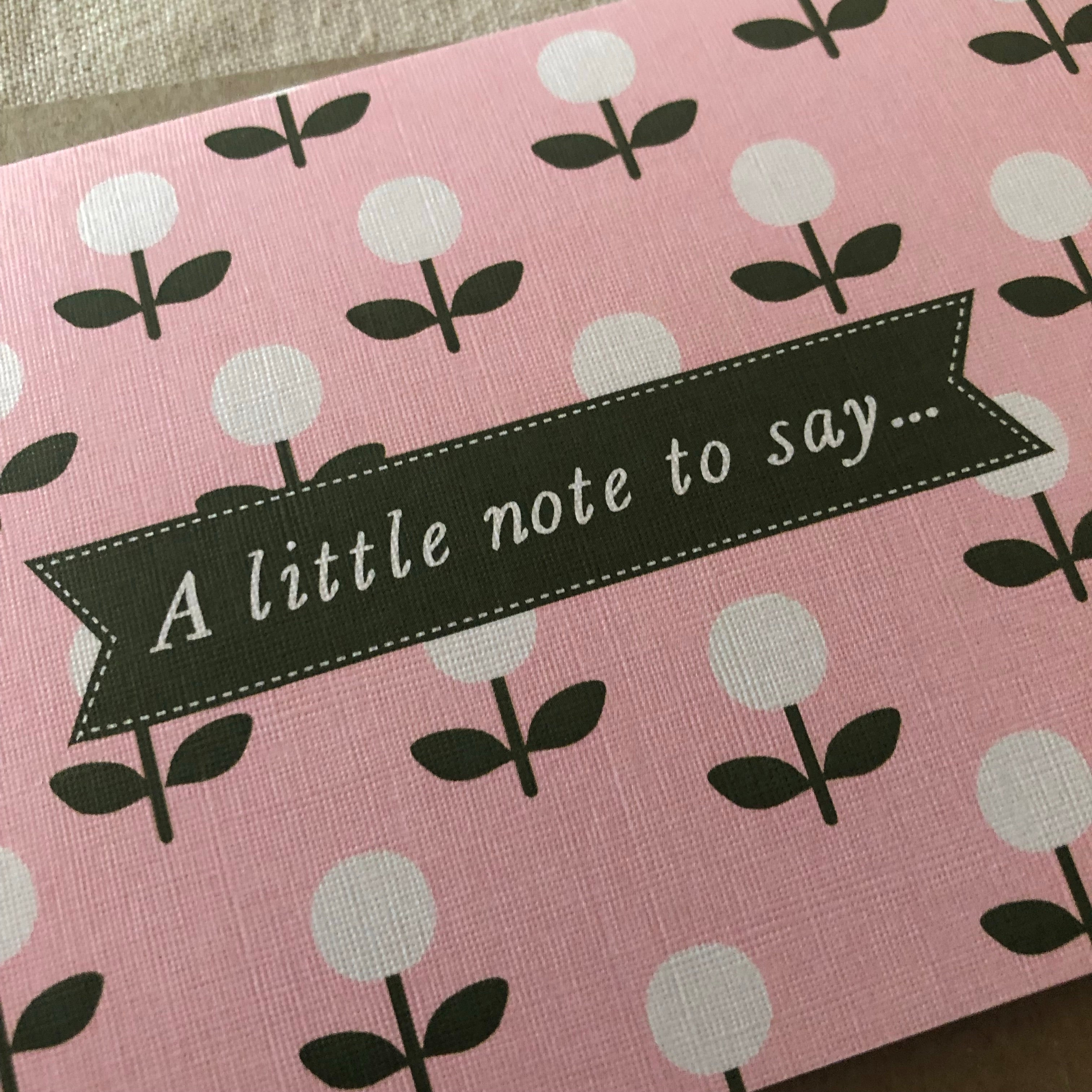 A Little Note to Say Card