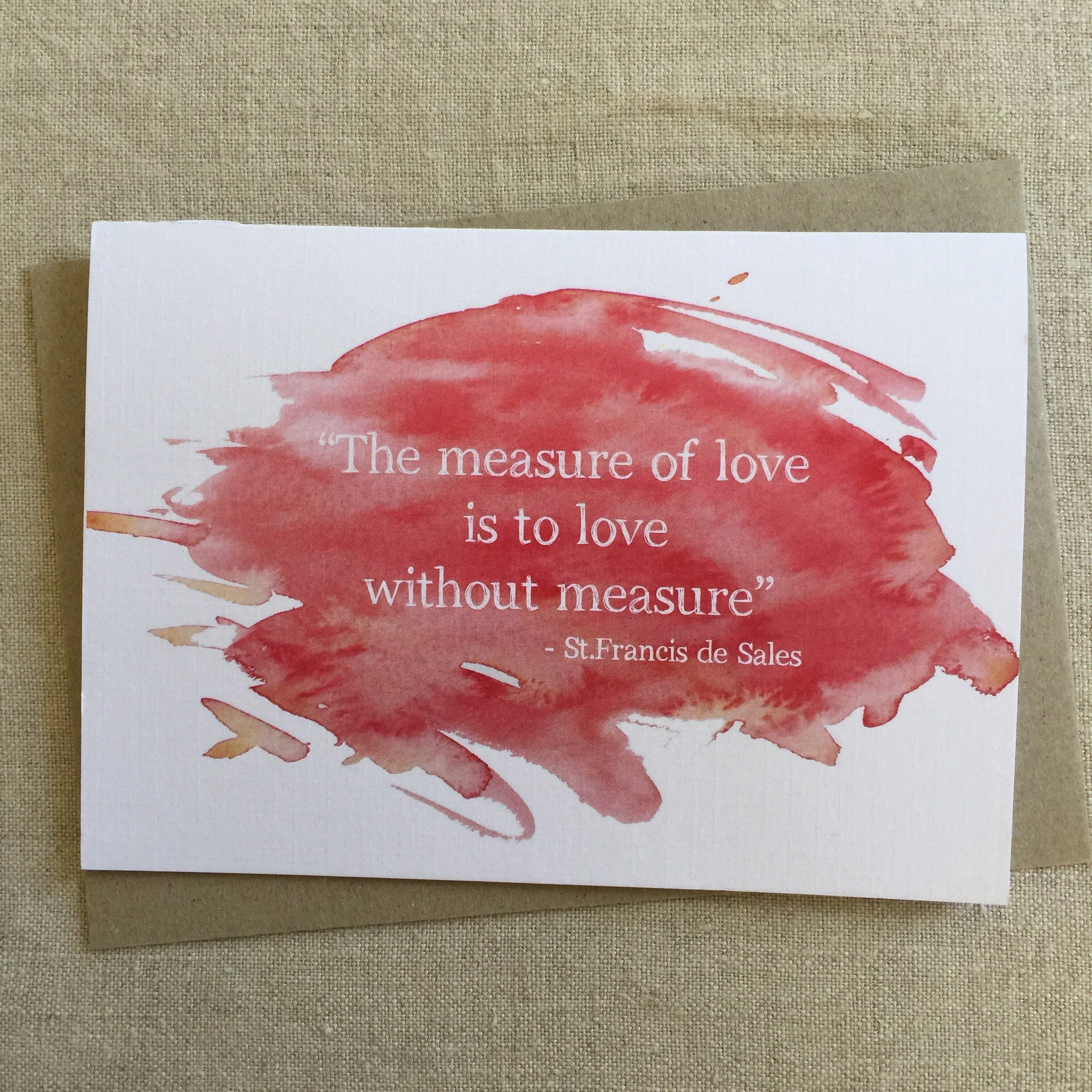 The Measure of Love Card