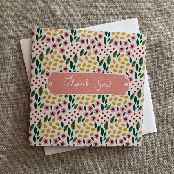 Petit Thank You Spring Garden Card
