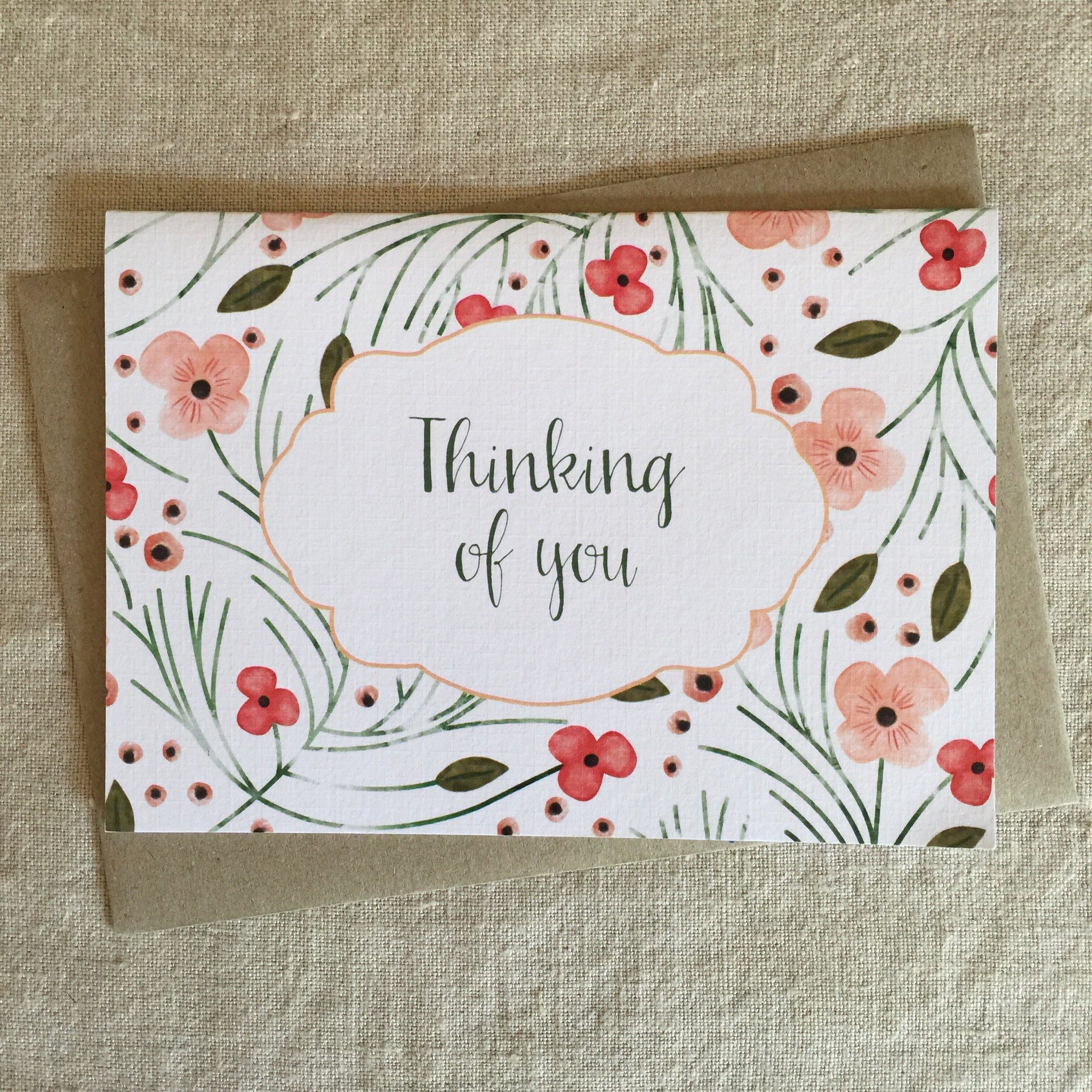 Floral Thinking of You Card