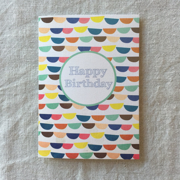 Bunting Birthday Card