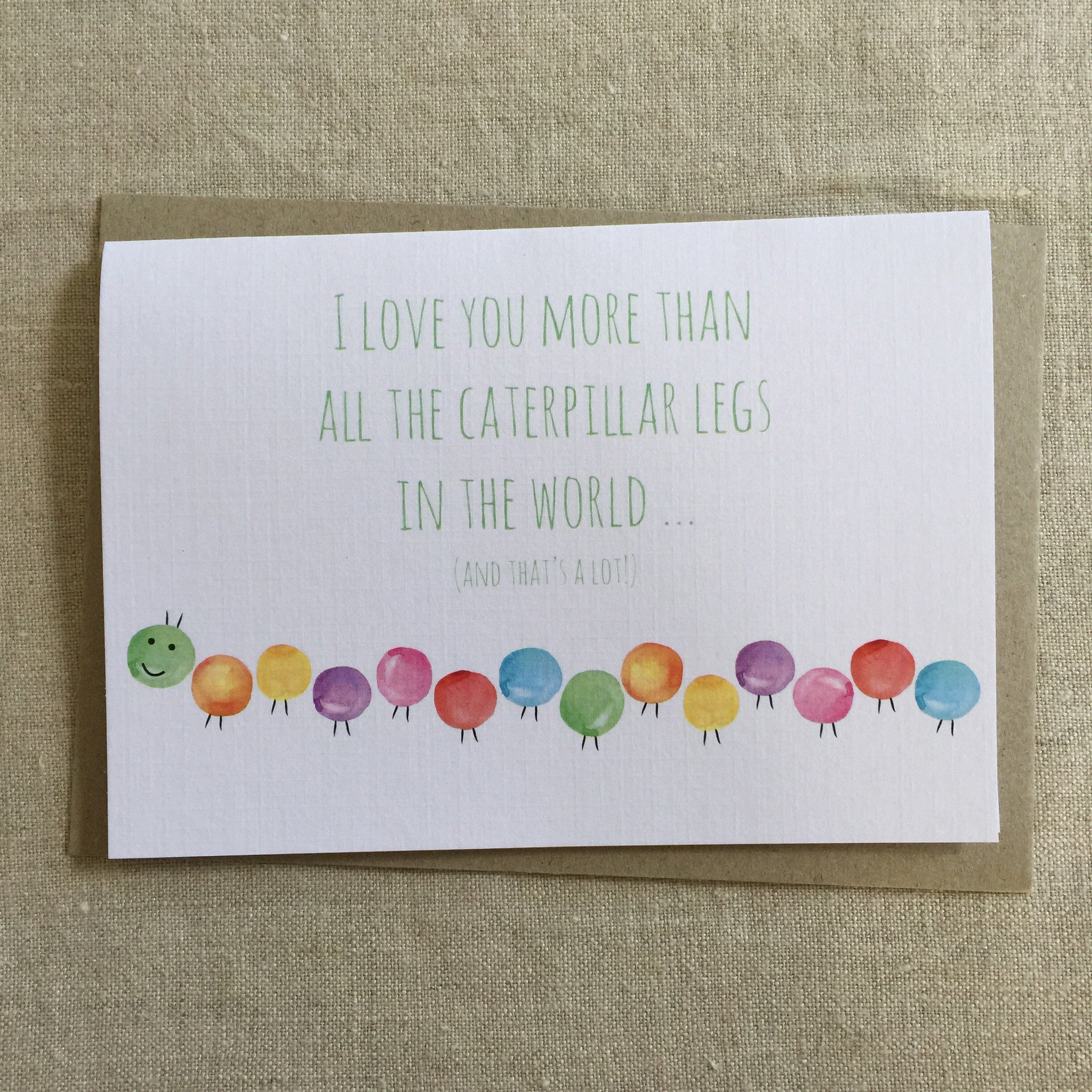 Caterpillar Love Card
